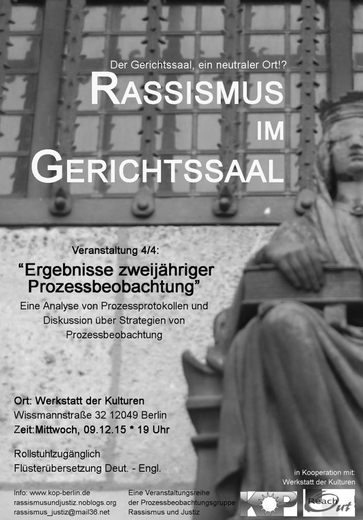 rassismus im gerichtssaal poster
